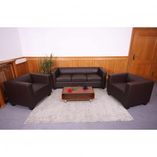 3-1-1 Sofagarnitur Couchgarnitur Kunstleder weiß
