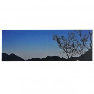 LED-Bild Leinwandbild Leuchtbild Wandbild ~ 100x35cm Sonnenuntergang