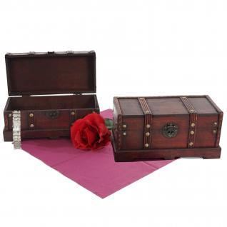 2er Set Holztruhe Holzbox Valence 13x29x14cm eckig