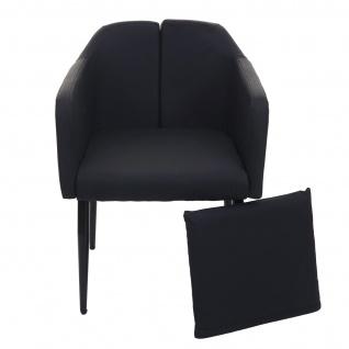 6x Esszimmerstuhl HWC-H93, Küchenstuhl Lehnstuhl Stuhl ~ Kunstleder schwarz - Vorschau 3