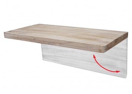 Wandtisch HWC-H48, Wandklapptisch Wandregal Tisch, klappbar Massiv-Holz ~ 120x60cm naturfarben - Vorschau 4
