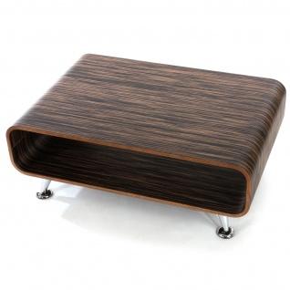 Couchtisch HWC-B97 XXL, Tisch Loungetisch Club Tisch, 33x90x60 cm Zebra dunkelbraun