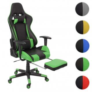 Relax-Bürostuhl HWC-D25 XXL, Schreibtischstuhl Gamingstuhl, 150kg belastbar Fußstütze ~ schwarz/grün