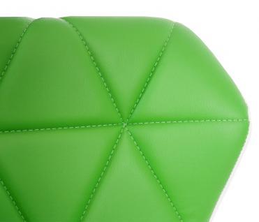 2x Barhocker HWC-A92, Barstuhl Tresenhocker, höhenverstellbar Kunstleder ~ grün - Vorschau 3