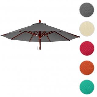 Bezug für Gastronomie Holz-Sonnenschirm HWC-C57, Sonnenschirmbezug Ersatzbezug, rund Ø3m Polyester 3kg ~ anthrazit