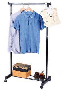 Garderobenständer LD30, Kleiderständer Garderobe, höhenverstellbar, 96-170cm