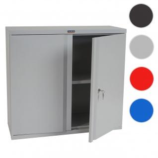 Aktenschrank Valberg T330, Metallschrank, 2 Türen 84x92x37cm ~ grau