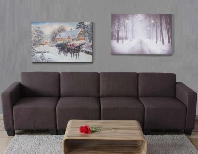 2x LED-Bild, Leinwandbild Leuchtbild Wandbild 60x40cm Snow - Vorschau 2