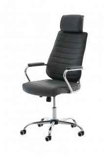 Bürostuhl CP298, Bürosessel Drehstuhl ~ grau