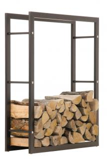 Kaminholzständer CP319, Feuerholzregal 25x80x150 Eisen