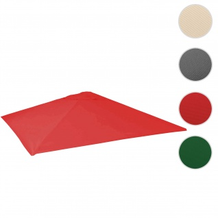 Bezug für Gastronomie Sonnenschirm HWC-D20, Sonnenschirmbezug Ersatzbezug, 5x5m (Ø7, 2m) Polyester ~ rot