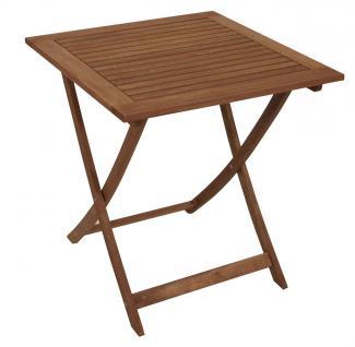 Holztisch FG72, Gartentisch Klapptisch, Eukalyptusholz geölt, 72x70x70cm