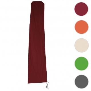 Schutzhülle Meran für Marktschirm bis 5m, Abdeckhülle Cover mit Reißverschluss ~ bordeaux