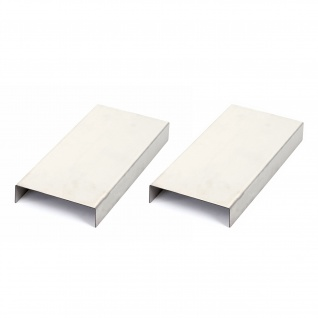 Armlehnen-Ablage HWC-C67, Sofa-Butler Tablett, Edelstahl 25cm Länge ~ 11, 5cm, 2 Stück