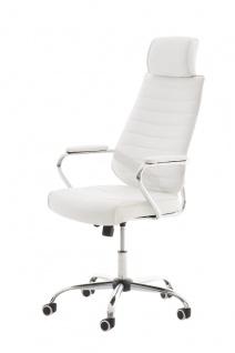 Bürostuhl CP298, Bürosessel Drehstuhl ~ weiß