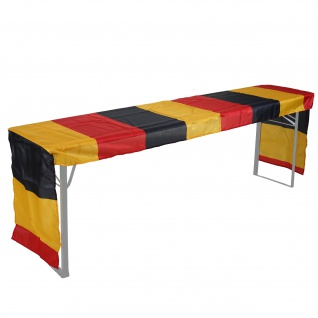 Tischdecke für Bierzeltgarnitur HWC-D19, Biertischhusse Tischhusse, Deutschland WM EM 360x73cm