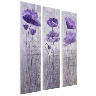 Ölgemälde Lila Blumen, 100% handgemaltes Wandbild XL, 120x90cm - Vorschau 4