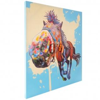 Ölgemälde Pferd, 100% handgemaltes Wandbild XL, 100x90cm - Vorschau 3