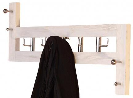 Wandgarderobe H58, Garderobenpaneel Garderobe, 36x60x8cm ~ weiß