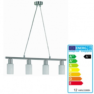 LED-Pendelleuchte, 12W-LED, EEK A++, nickel matt, Glas