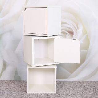 3x Modul-Würfelregal Standregal M73, 100x 34 x 29 cm, 3x Tür weiß - Vorschau 2