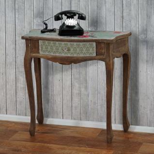 Telefontisch Carolina, Beistelltisch Kosmetiktisch, Shabby-Look Vintage, 80x80x38cm