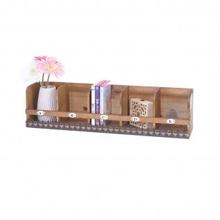 Wandregal HWC-A43, Hängeregal Regal, Tanne Holz massiv Vintage Shabby-Look 71x18x16cm