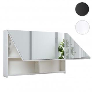 Spiegelschrank HWC-C11, Wandspiegel Badspiegel Badezimmer, aufklappbar hochglanz 58x90cm ~ weiß
