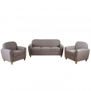 3-1-1 Sofagarnitur Malmö T377, Couch, Retro grau, Textil - Vorschau 5