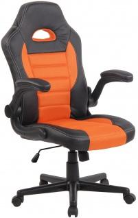 Bürostuhl CP115, Bürosessel Drehstuhl ~ orange