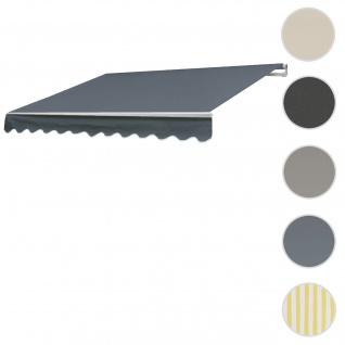 Bezug für Markise T792, Gelenkarmmarkise Ersatzbezug Sonnenschutz, 5x3m ~ Acryl grau