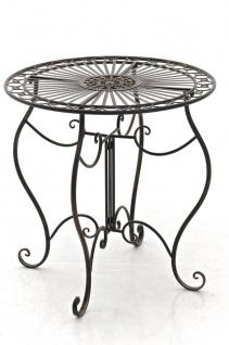 Gartentisch CP309, Metalltisch ~ bronze