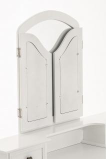 Schminktisch CP414, Frisierkommode Frisiertisch weiß