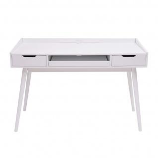 Schreibtisch HWC-A70b, Bürotisch Computertisch, MDF 120x55cm ~ weiß - Vorschau 4