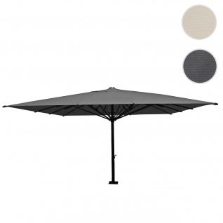Gastronomie-Luxus-Sonnenschirm HWC-D20, XXL-Schirm Marktschirm, 5x5m (Ø7, 2m) Polyester/Alu 75kg anthrazit