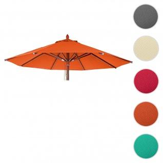Bezug für Gastronomie Holz-Sonnenschirm HWC-C57, Sonnenschirmbezug Ersatzbezug, rund Ø3m Polyester 3kg ~ terrakotta