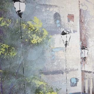 Ölgemälde Ortschaft, 100% handgemaltes Wandbild Gemälde XL, 120x90cm - Vorschau 4