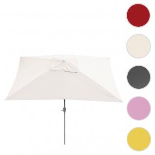 Sonnenschirm N23, Gartenschirm, 2x3m rechteckig neigbar, Polyester/Alu 4, 5kg ~ creme