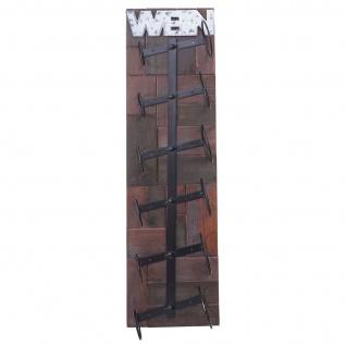 Weinregal HWC-A90, Flaschenregal Wandregal Flaschenhalter, Holz Metall für 6 Flaschen 75x20x11cm - Vorschau 4