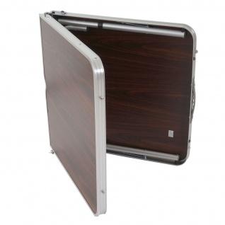 Campingtisch T367, Klapptisch Gartentisch Koffertisch 68x120x60cm mit Schirmloch - Vorschau 5