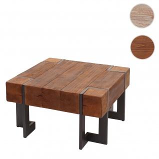 Couchtisch HWC-A15, Wohnzimmertisch, Tanne Holz rustikal massiv ~ braun 70x70cm
