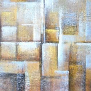 Ölgemälde Cubes, 100% handgemaltes Wandbild Gemälde XL, 100x100cm - Vorschau 4