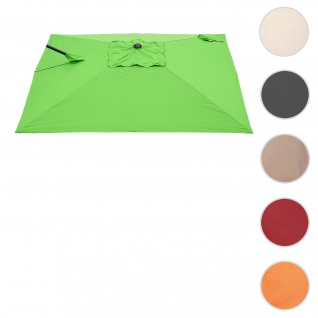 Bezug für Ampelschirm HWC-A39, Sonnenschirmbezug Ersatzbezug, 3x3m (Ø4, 24m) Polyester 2, 8kg ~ grün