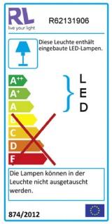Reality|Trio LED Deckenleuchte RL165, Deckenlampe, inkl. Leuchtmittel EEK A+ 14W - Vorschau 2