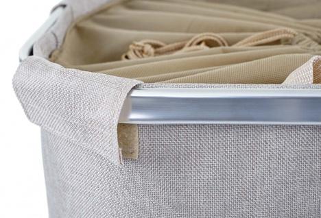 Wäschesammler HWC-C34, Laundry Wäschebox Wäschekorb Wäschebehälter mit Kordelzug, 2 Fächer Henkel 54x52x32cm 89l - Vorschau 2