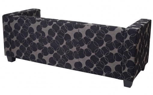 3-1-1 Sofagarnitur Couchgarnitur Loungesofa Lille, Textil grau/schwarz - Vorschau 5
