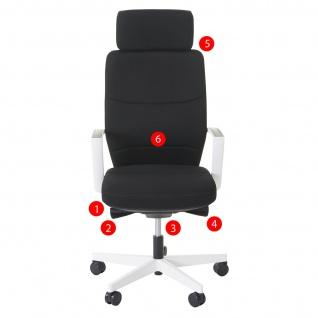 Bürostuhl MERRYFAIR Luton, Schreibtischstuhl, Sliding-Funktion Textil ISO9001 130kg belastbar - Vorschau 4