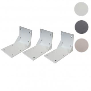 3x Deckenadapter für Kassetten-Markise T124, Deckenmontage Halterung Adapter ~ weiß