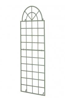 Wandrankhilfe CP371, Rankhilfe Rankgitter, Eisen ~ 180cm, antik-grün
