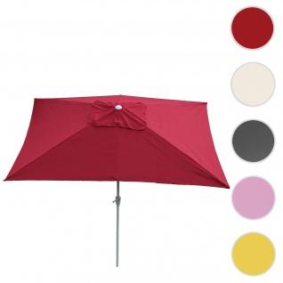 Sonnenschirm N23, Gartenschirm, 2x3m rechteckig neigbar, Polyester/Alu 4, 5kg ~ bordeaux